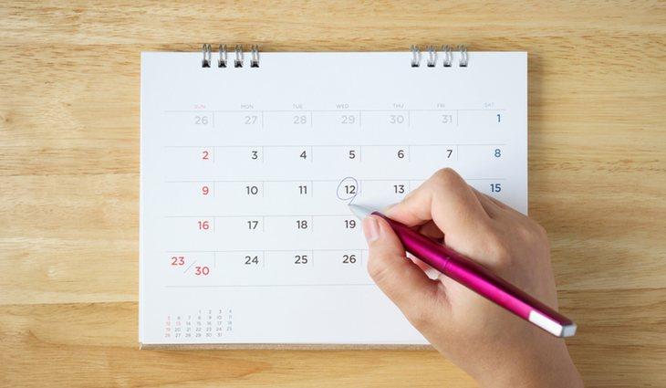 Si queremos adoptar un habito nuevo, una buena técnica es ir apuntando los días en el calendario